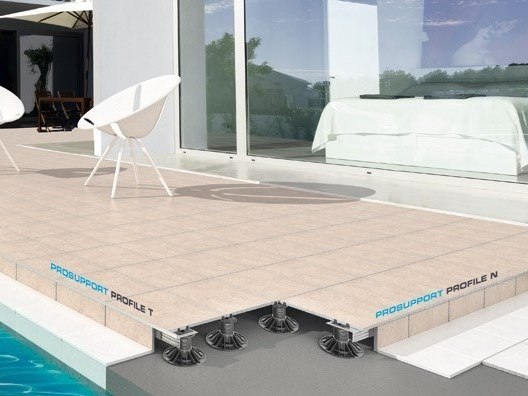Modular system for raised flooring PROSUPPORT SYSTEM by PROGRESS PROFILES