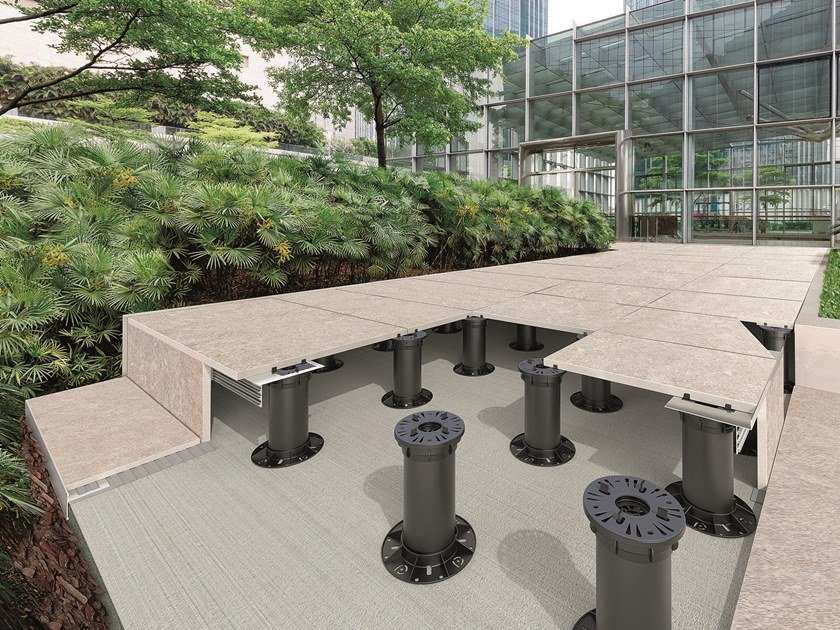 Outdoor Modular system for raised flooring PROSUPPORT TUBE SYSTEM by PROGRESS PROFILES