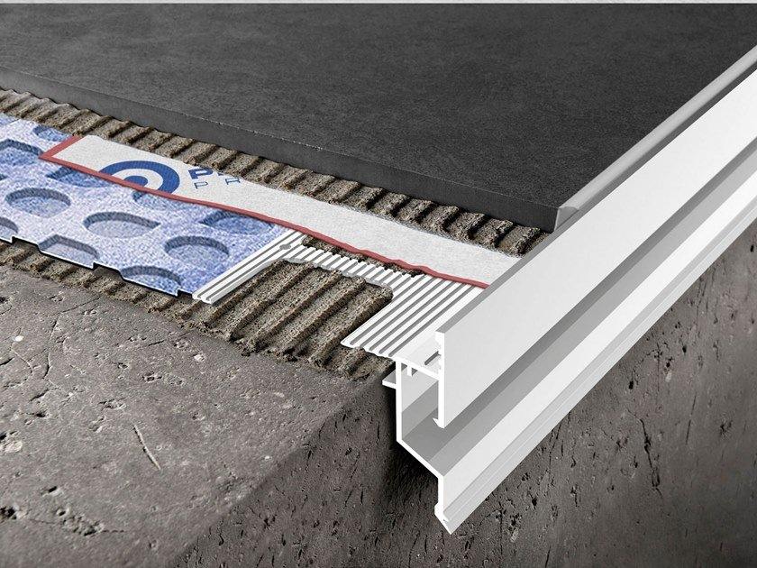Profile and flashing for waterproofing PROTERRACE DRAIN DRIP by PROGRESS PROFILES