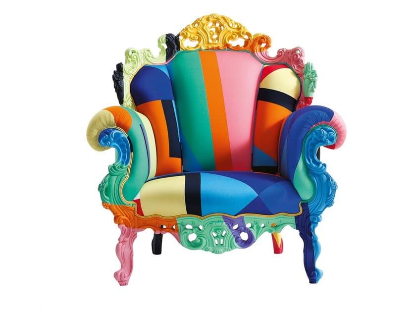 Poltrona in tessuto multicolor PROUST GEOMETRICA by Cappellini