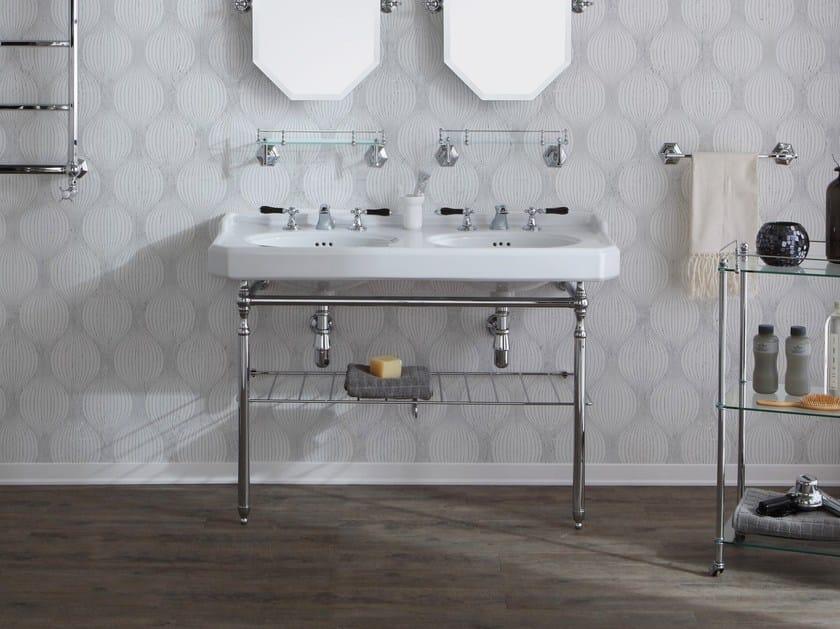Console double ceramic washbasin PROVENCE '700 | Double washbasin by BLEU PROVENCE