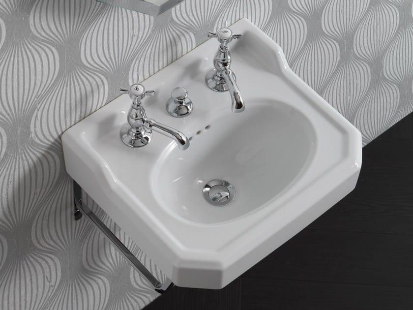 Single wall-mounted ceramic washbasin PROVENCE '700 | Wall-mounted washbasin by BLEU PROVENCE