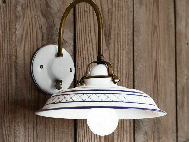 Ceramic wall lamp with fixed arm PROVENZA | Wall lamp by Aldo Bernardi