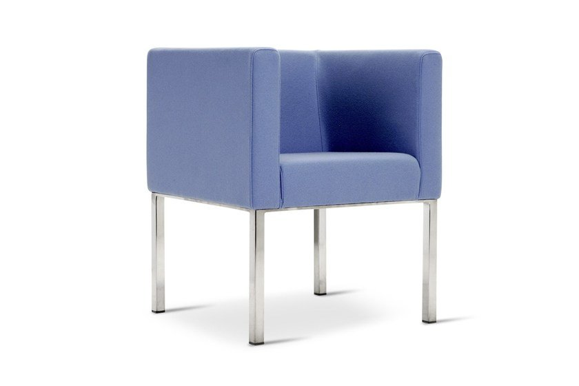 Upholstered guest chair PROVIDENCE | Armchair by Domingo Salotti