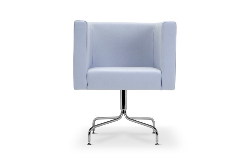 Upholstered trestle-based guest chair PROVIDENCE | Trestle-based armchair by Domingo Salotti