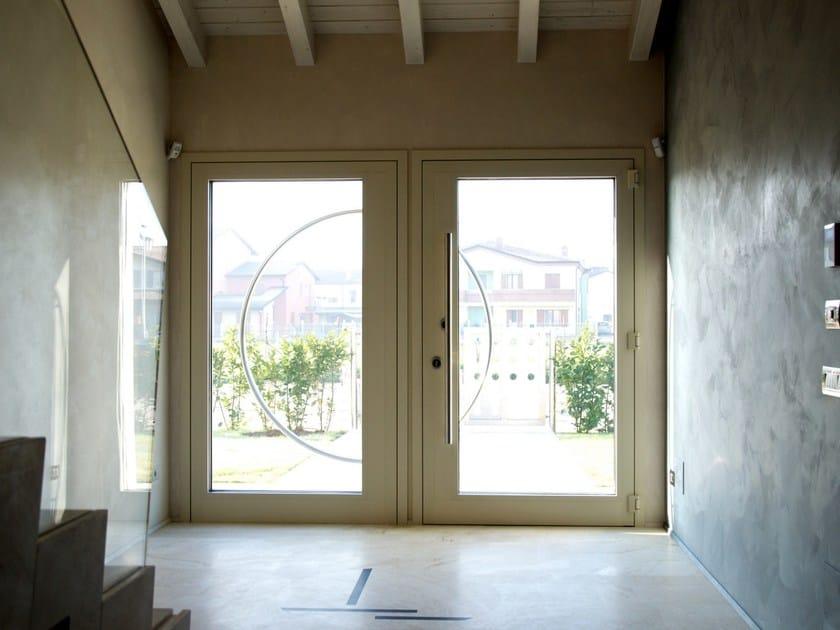 Exterior glazed aluminium safety door PRT ATENA 110 by GINKO SAFE DESIGN