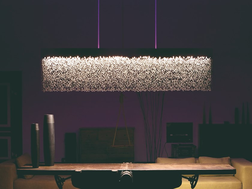 LED stainless steel pendant lamp PSYCHE by Caino Design