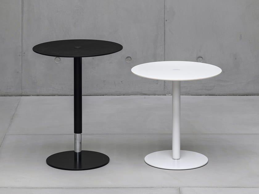 Table basse réglable en hauteur ronde PTB by Kristalia