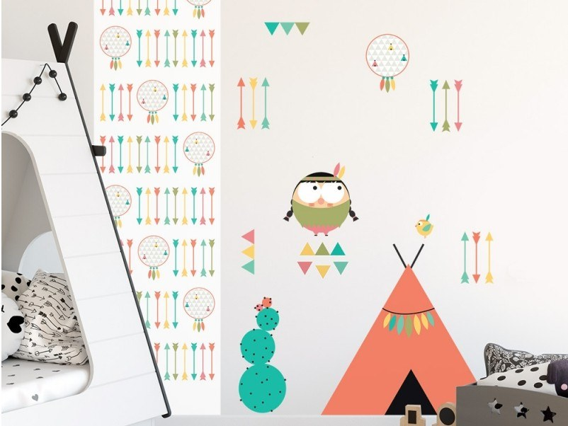 Kids wall sticker PTITE INDIENNE by ACTE-DECO