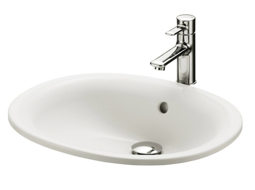 Built-In ceramic Public washbasin PUBLIC | Built-In Public washbasin by TOTO