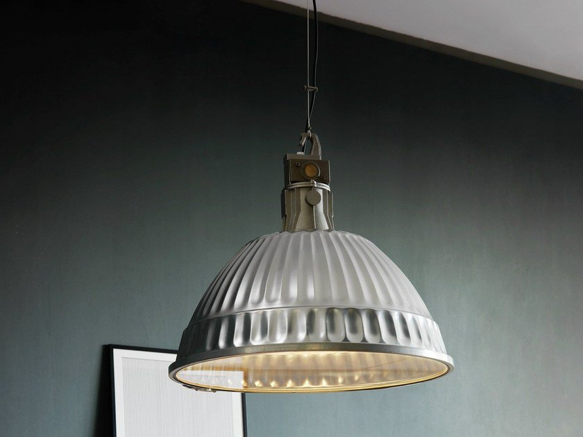 Aluminium pendant lamp PUDDING by FontanaArte