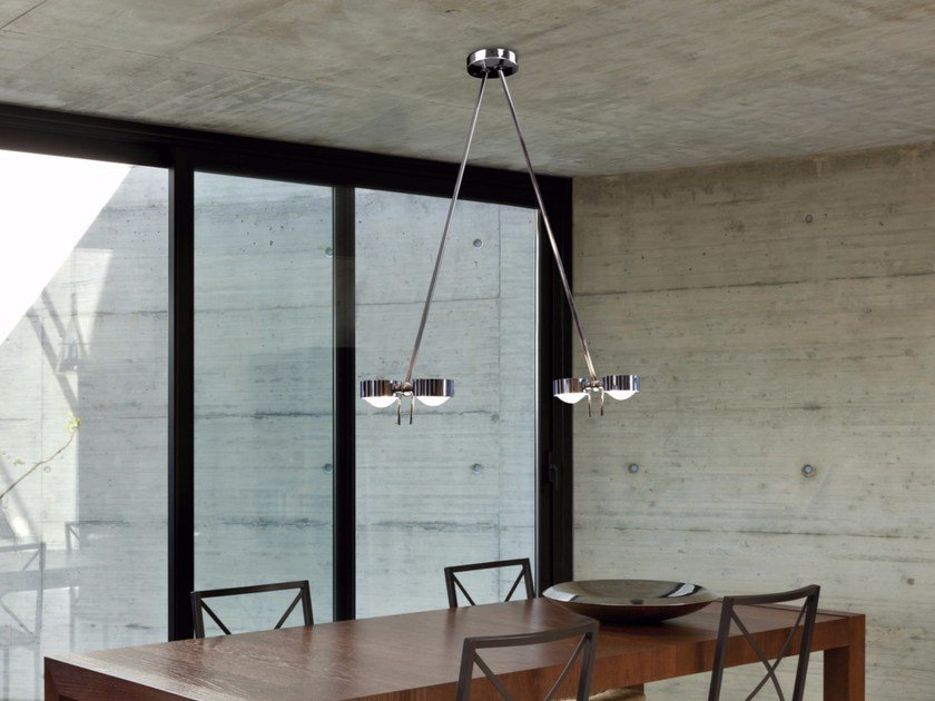 Adjustable metal ceiling lamp PUK CEILING SISTER TWIN by Top Light