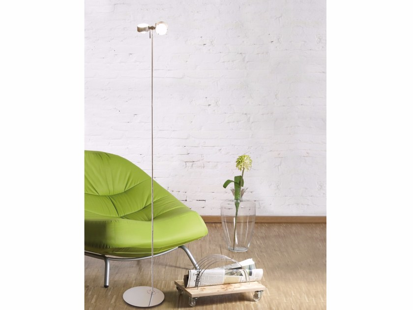 Metal reading lamp with swing arm PUK FLOOR TWIN by Top Light
