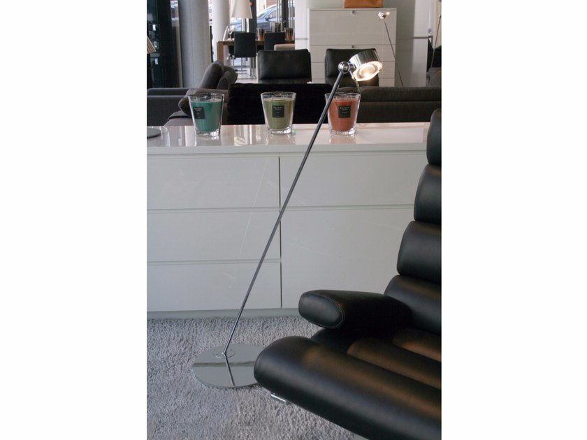 Metal reading lamp with swing arm PUK FLOOR SINGLE by Top Light