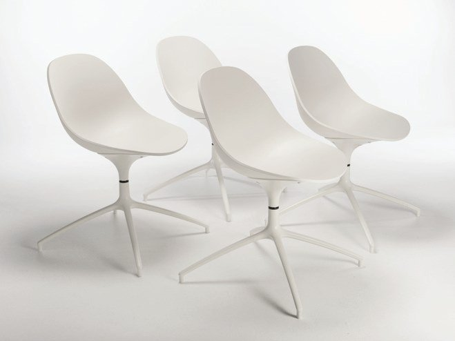 Swivel trestle-based polyurethane chair PULL SPIDER by Casprini