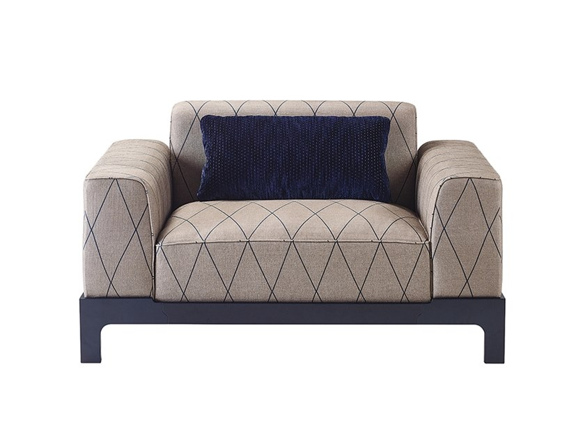 Fabric armchair with armrests PULLMAN   Armchair by Promemoria