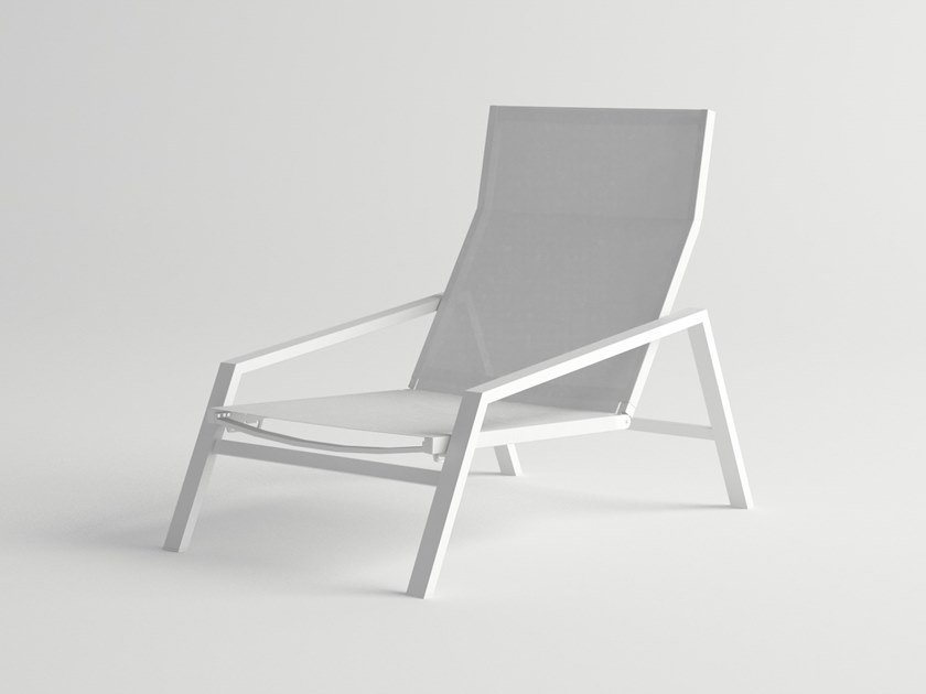 Aluminium deck chair with armrests PULVIS ROYAL | Deck chair by 10Deka