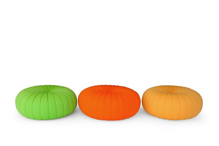 Giovannetti Tessuto Rotondo Pouf Pumpkin In IbvgfY76ym