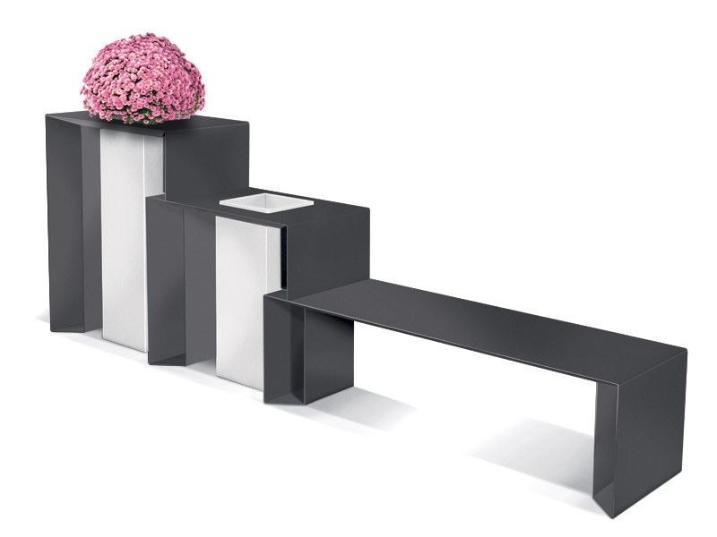 Bench with Integrated Planter PUNKA C F by LAB23