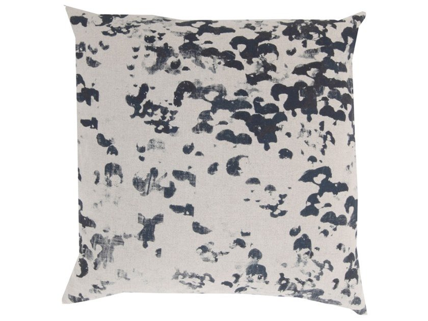 Square fabric cushion PUNKTCHEN by Birgit Morgenstern Studios