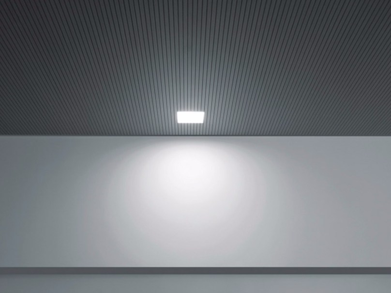 Fluorescent ceiling recessed spotlight PUNTO FL by DAVIDE GROPPI