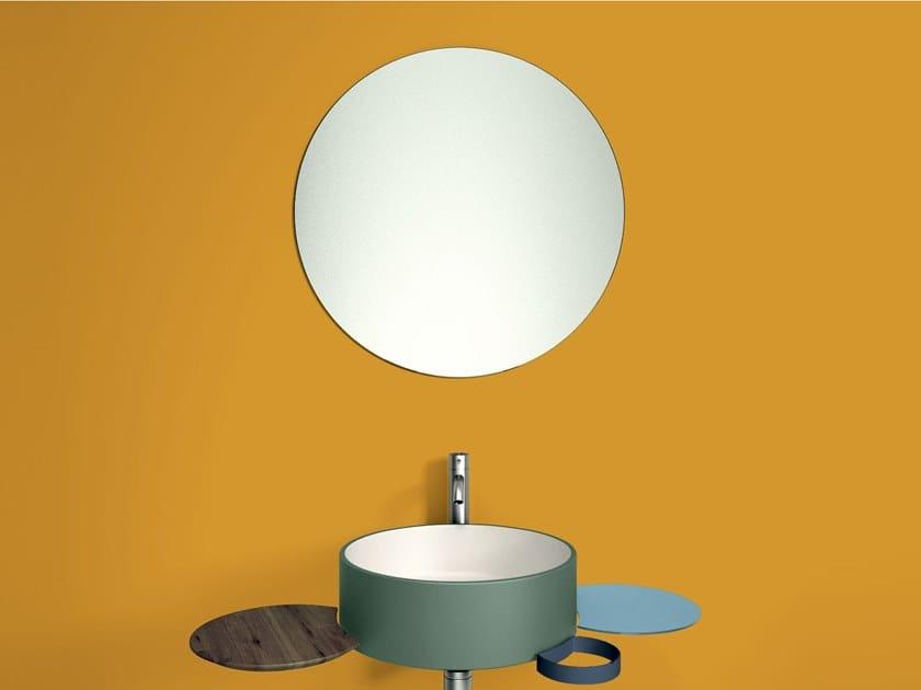 Round wall-mounted mirror PUNTO | Mirror by Lago