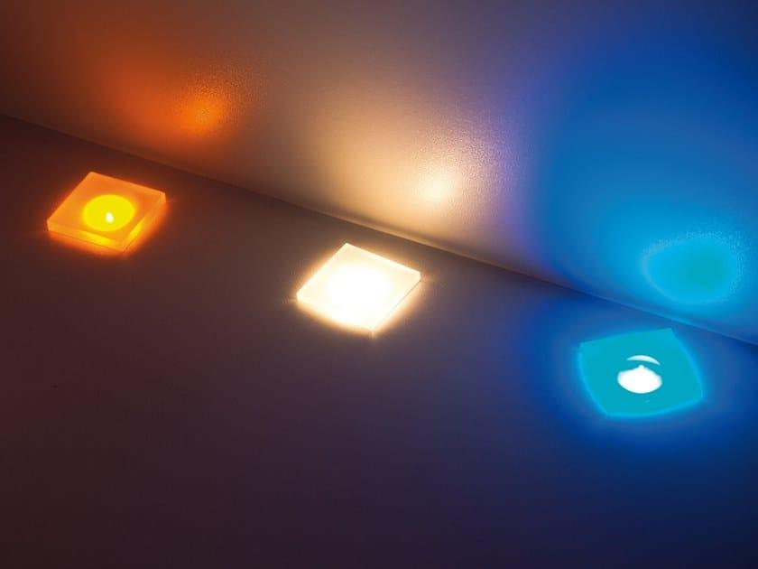 LED recessed Anodized aluminium Outdoor spotlight PUNTO SOFT Q by ENGI