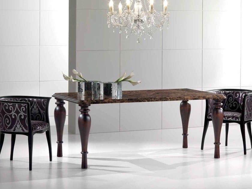 Rectangular marble table PUNTOVITA by International Marmi