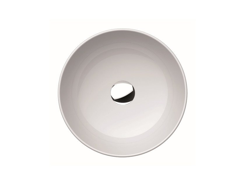 Countertop round washbasin PURA 42   Countertop washbasin by GSI ceramica