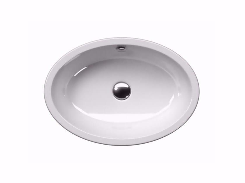 Countertop oval washbasin PURA 60/T | Countertop washbasin by GSI ceramica