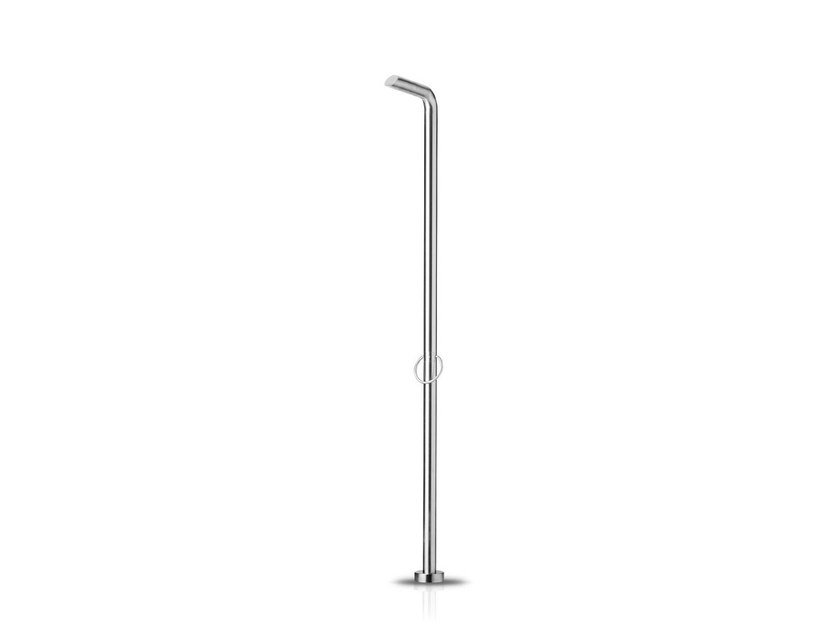 Floor standing stainless steel shower panel PURE 09 by JEE-O