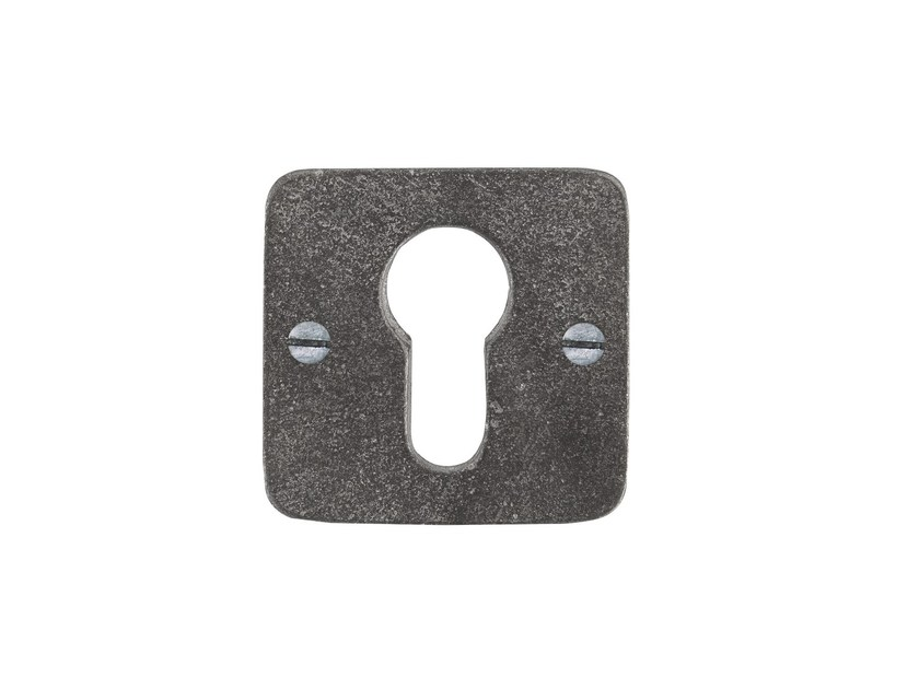 Square keyhole escutcheon PURE 14823 by Dauby