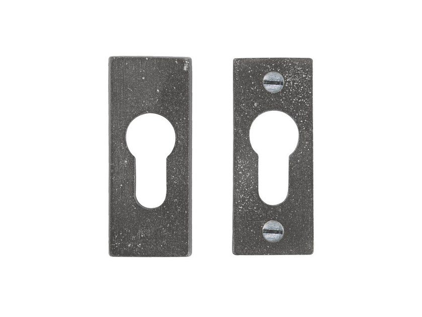 Rectangular keyhole escutcheon PURE  14891 by Dauby