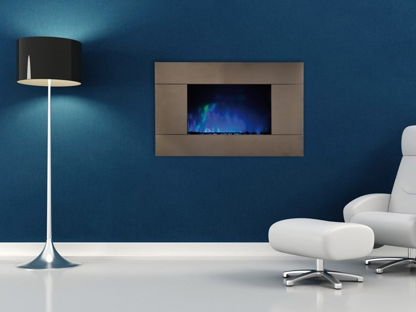 Electric wall-mounted vent free glass fireplace PURE by BRITISH FIRES