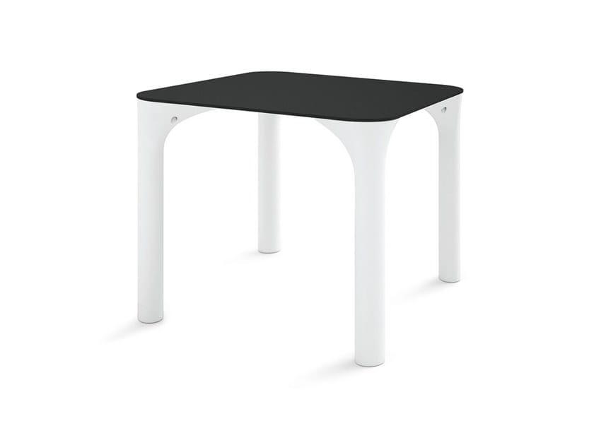Square HPL garden table PURE by Lyxo Design