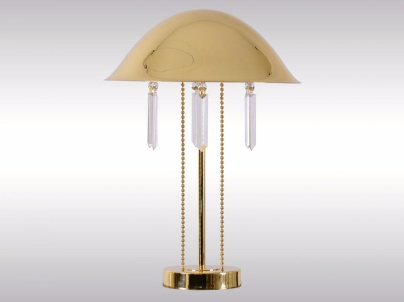 Brass table lamp PURKERSDORF by Woka Lamps Vienna