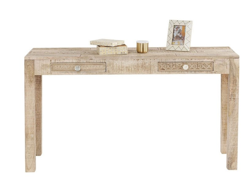 Rectangular wooden console table with drawers PURO | Console table by KARE-DESIGN