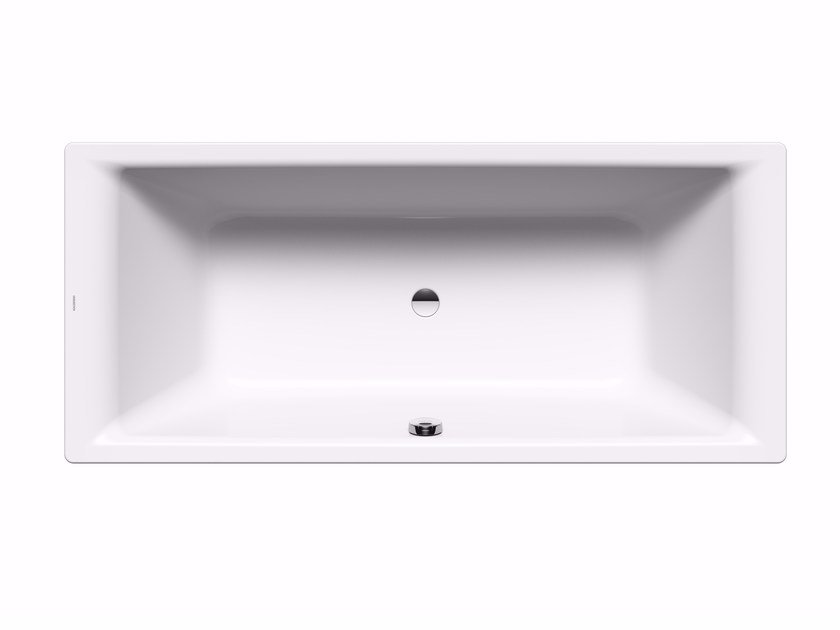 Rectangular built-in enamelled steel bathtub PURO DUO by Kaldewei Italia