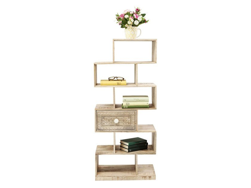 Open wooden shelving unit PURO ZICK ZACK by KARE-DESIGN