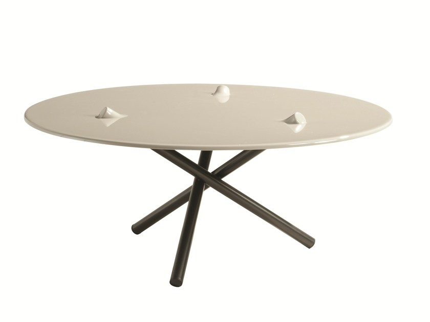 Round Daquacryl® coffee table PUSH | Coffee table by ROCHE BOBOIS