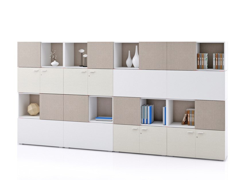 Modular office storage unit PUZZLE   Office storage unit by La Manufacture du Design