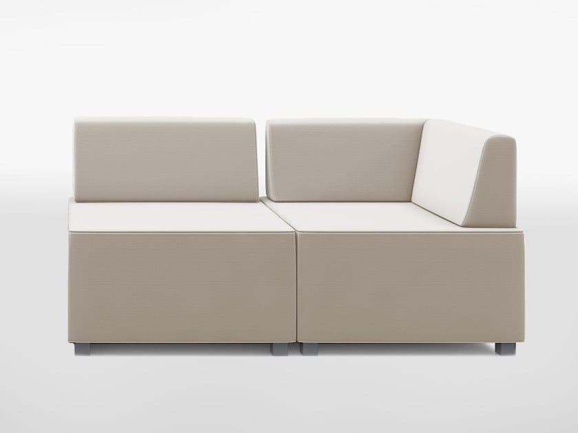 Modular 2 seater fabric sofa PUZZLE PZ2P1RED/PZ2P1REI by delaoliva