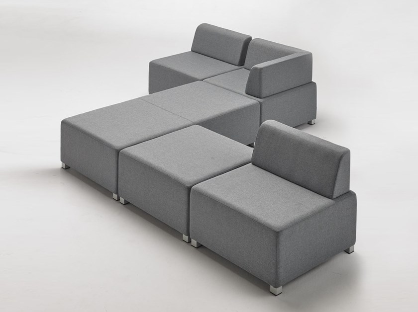 Sectional fabric sofa PUZZLE | Sectional sofa by delaoliva
