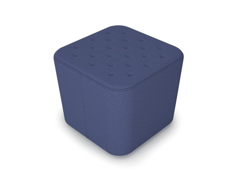 Upholstered square pouf PUZZLE | Square pouf by Luxy