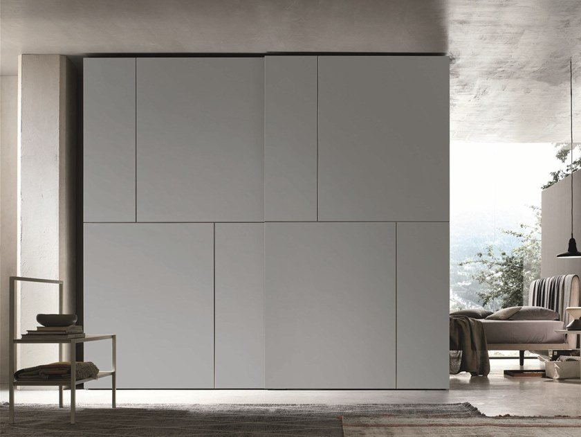 Lacquered wardrobe with sliding doors PUZZLE by Gruppo Tomasella