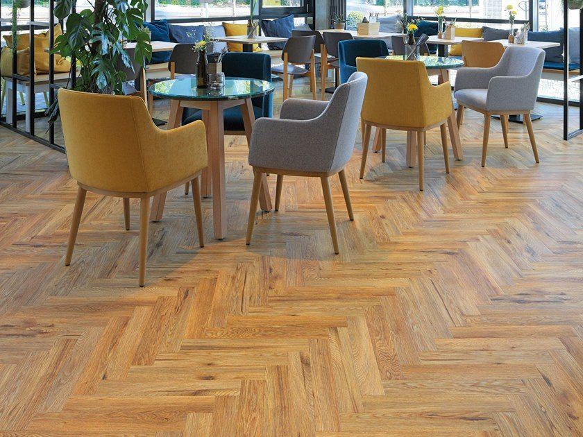PVC flooring with wood effect PW 3840/HB by PROJECT FLOORS