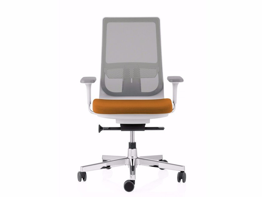 Swivel mesh task chair with 5-Spoke base with casters PYLA MESH by ICF