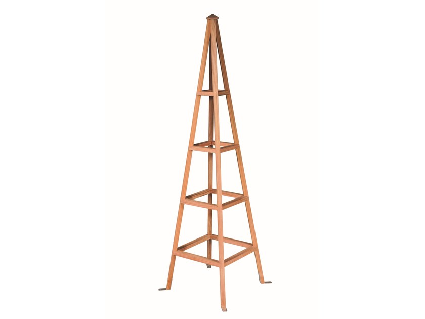 Self-supporting wooden vertical gardening trellis PYRAMIDE by Tectona