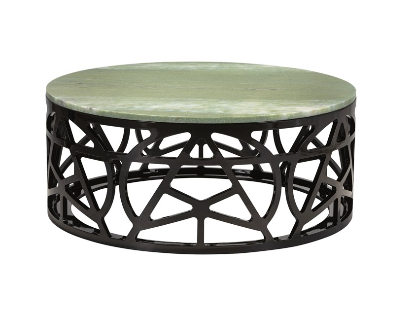 Low round marble coffee table PYRITE   Low coffee table by Green Apple