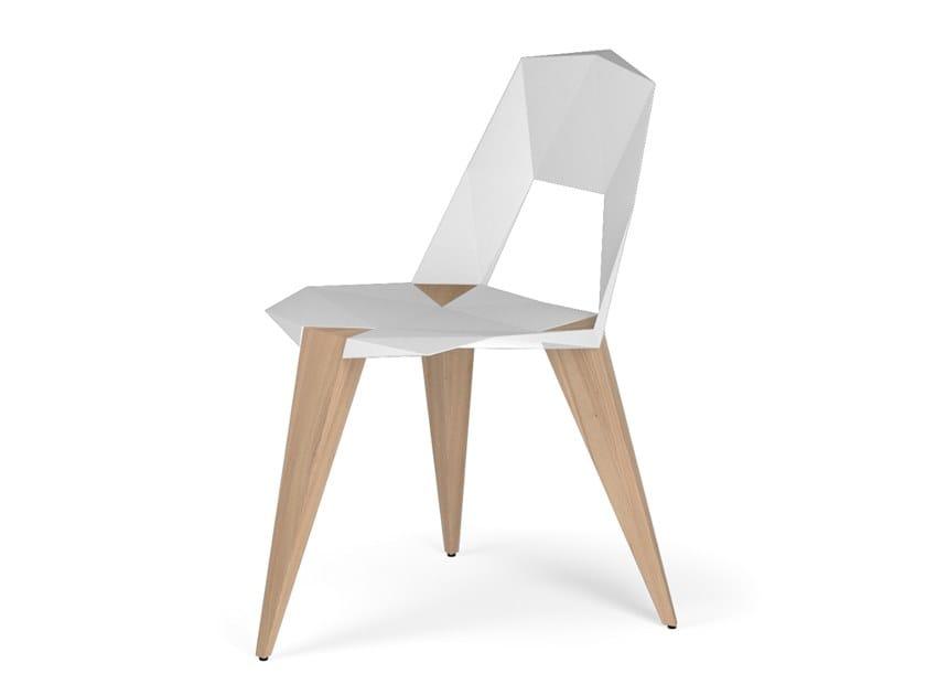 Sedie Alluminio E Legno.Sedia In Alluminio E Legno Pythagoras3 Kubikoff